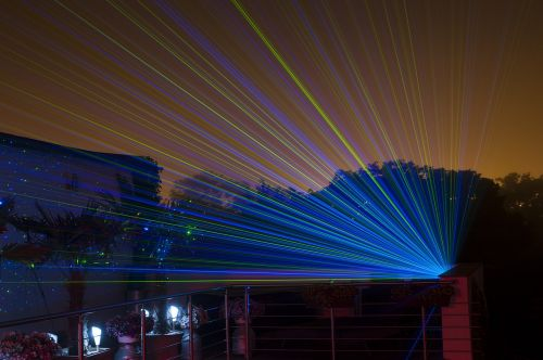 night laser lighting