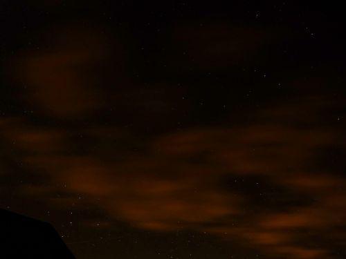 night stars sky