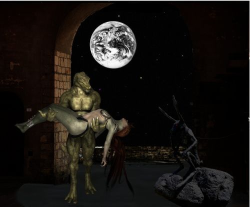 night fantasy photo montage