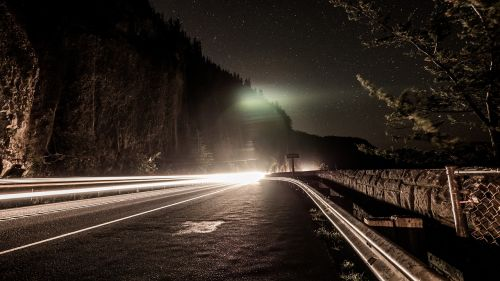 night road time lapse