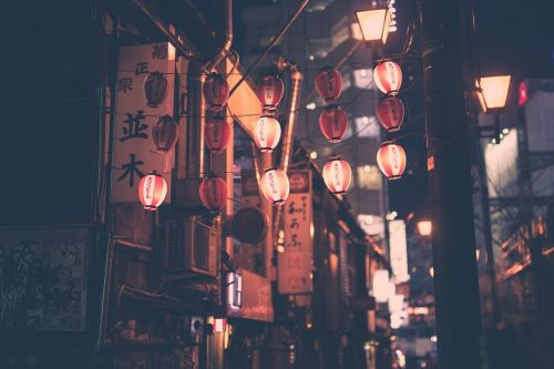 night lanterns light