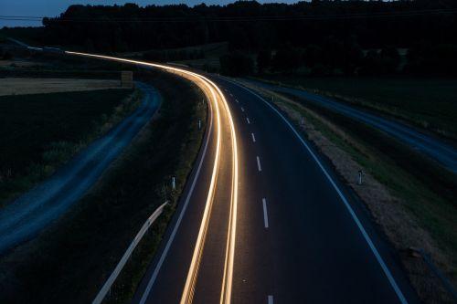 night traffic autos