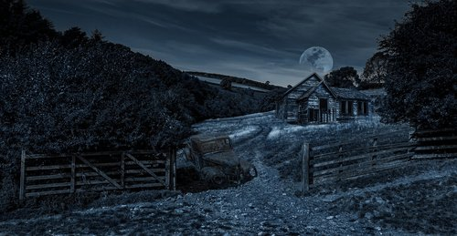 night  moonlight  dereliction