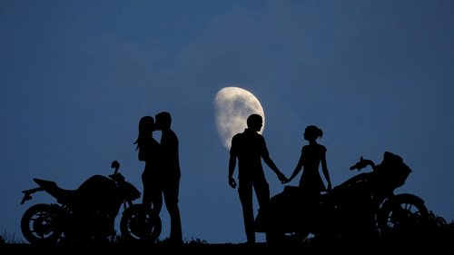 night  moon  couples