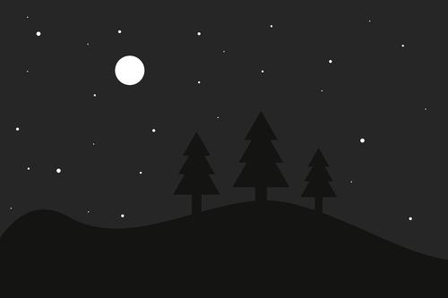 night  full moon  star