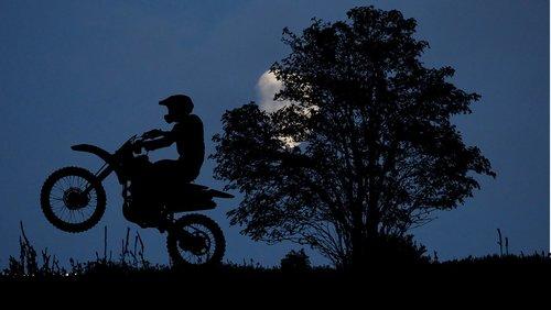 night  moon  motorcycle