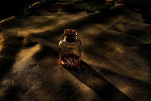 night  vial of gold  gold