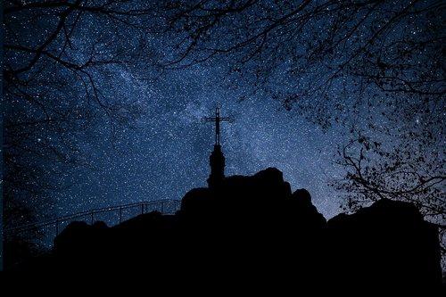 night  stars  mountain