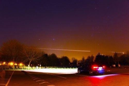 night car aeroplane