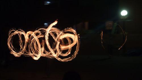 night night view fire