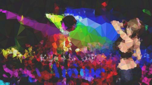 night club polygon art anime