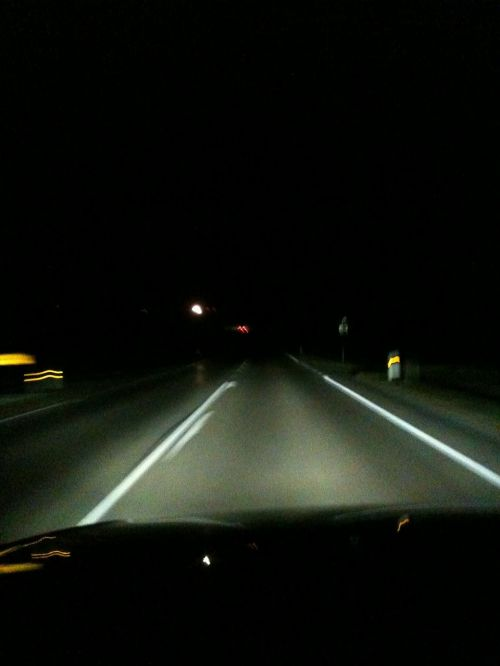 night drive highway darkness