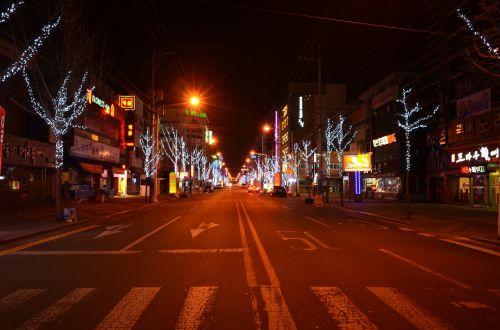 night landscape nightlife night of korea