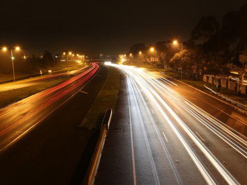 night photography lights illuminated