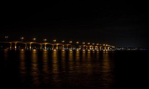 night photography  bridge  night