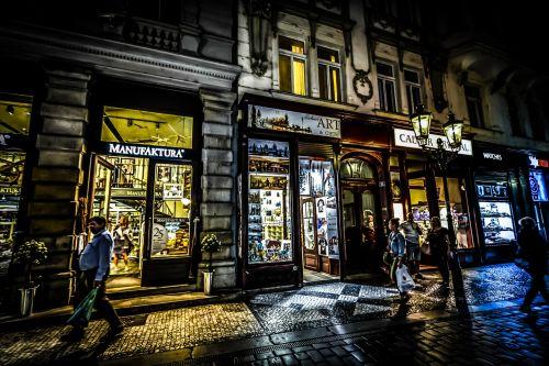Night Shopping In Prague