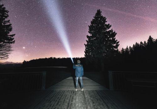 night sky searching seeking