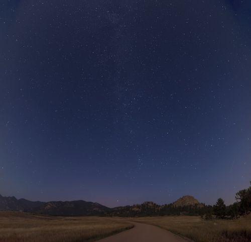 night sky stars night