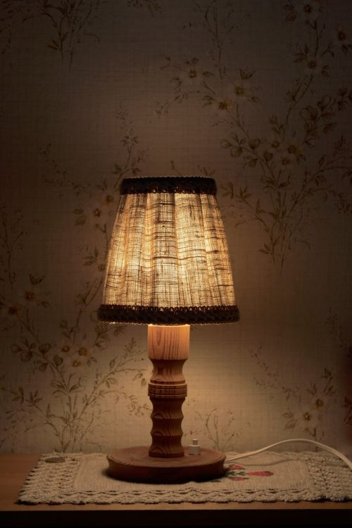 night table lamp light bedside table