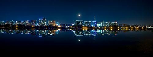 night view city panorama
