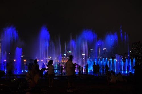 night view musical fountain dip
