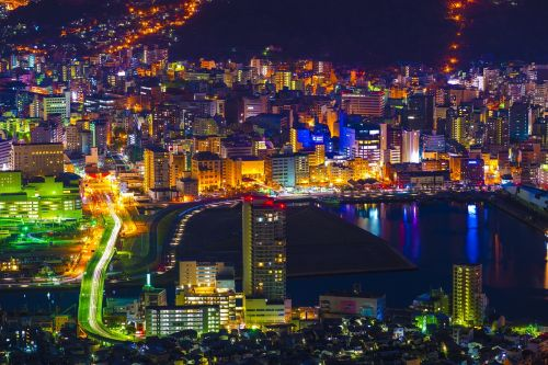 night view nagasaki japan