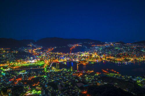 night view nagasaki japan