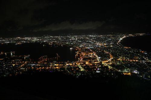 night view urban landscape bay
