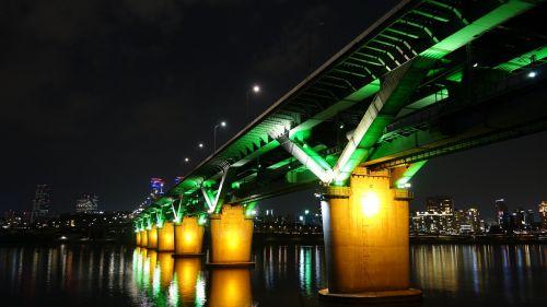 night view bridge seoul
