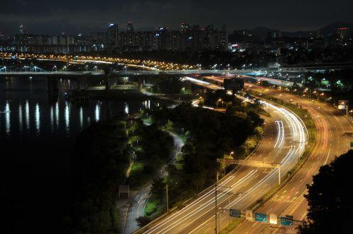 night view han river olympic boulevard