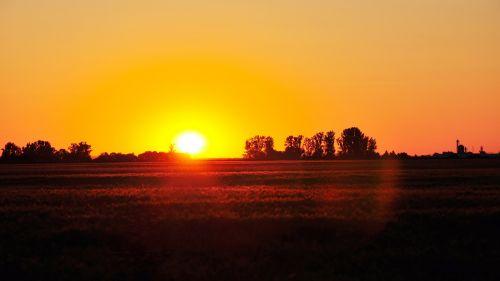 nightfall light sunset