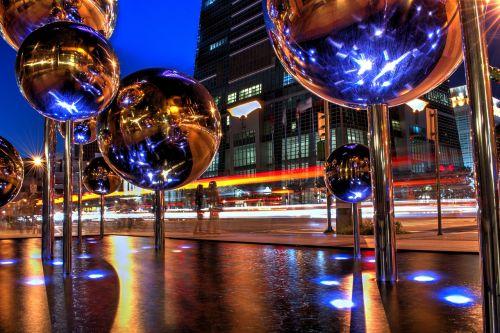 nightlife illuminated reflection
