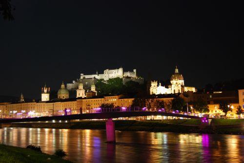 Night View Of Salzburg