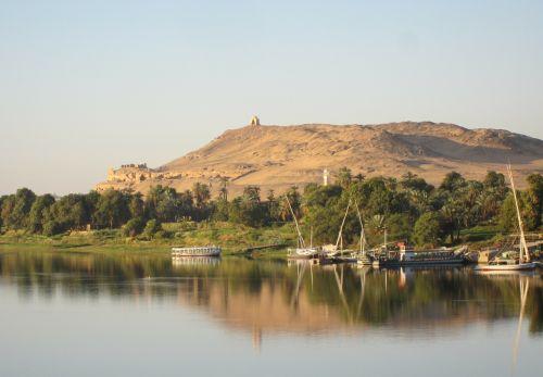 Nilo upė,Nile,riverside,upė,dykuma,Egiptas,sahara