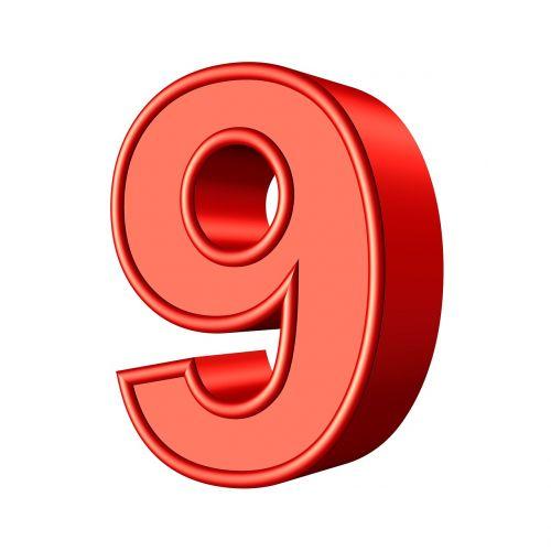 nine 9 number