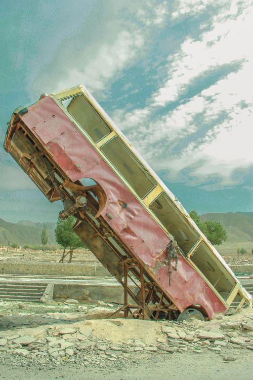 nine demon tower abandoned vehicle movie scene