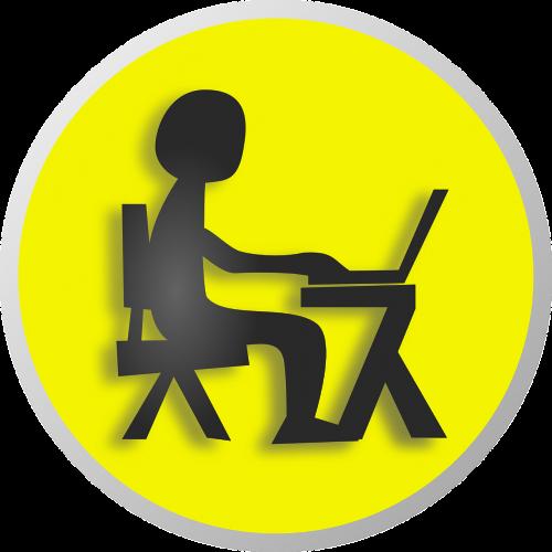 nine-to-five job work station workplace