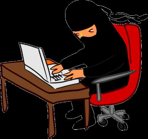 ninja laptop typing