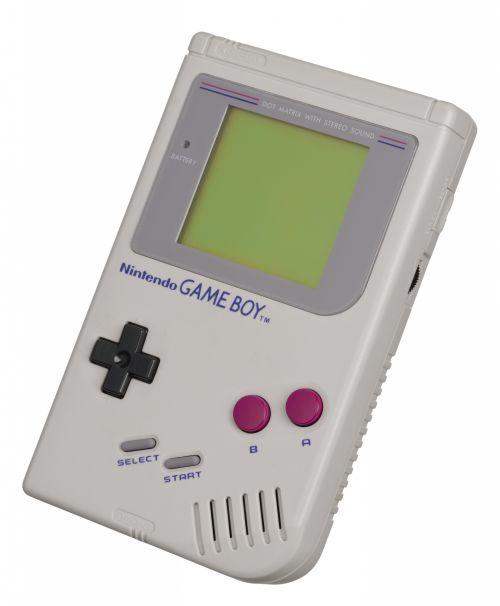 Nintendo, žaidimas, berniukas, 1989, žaisti, elektronika, technologija, mygtukai, kompiuteris, gameboy, rodyti, ekranas, Nintendo, baltas fonas