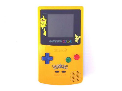 Nintendo, žaidimas berniukas spalva, konsolė, retro, vintage, rankinis, nintendo žaidimas nėščia, elektronika, technologija, žaidimų, 8 bitų, nešiojamas, geltona, pokemonas, Pikachu, nintendo žaidimo berniukas spalvos pokemonas