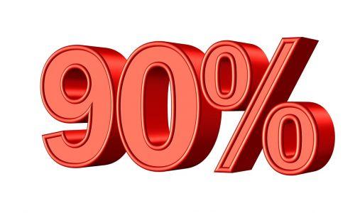nintey 90 percent