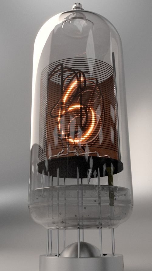 nixie tube digit neon