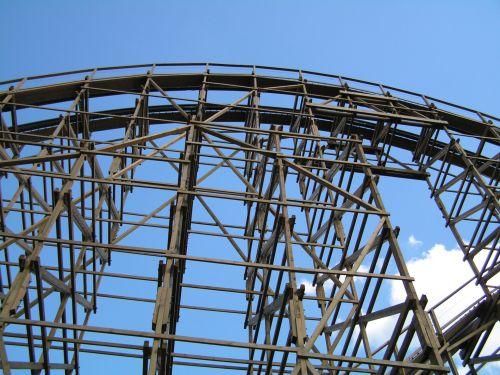 NJ Six Flags Rollercoaster