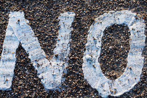 no sign asphalt