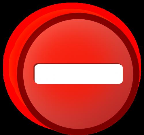 no access symbol icon