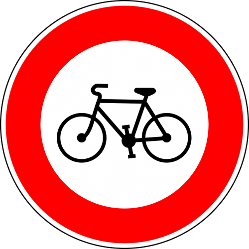 no bicycles traffic sign sign