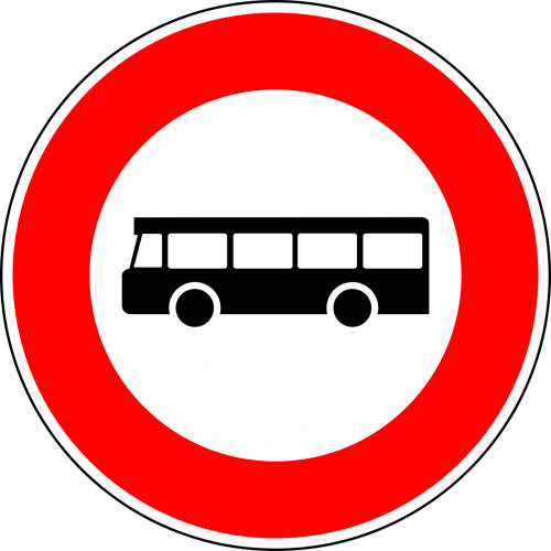 no busses traffic sign sign