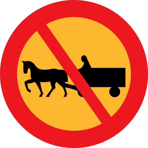 no carriages road sign roadsign