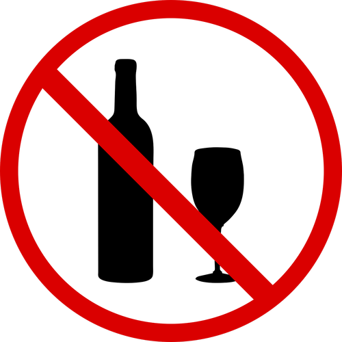 no drinking  no symbol  wine