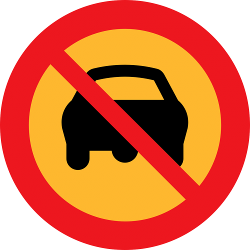 no driving no cars ban on driving